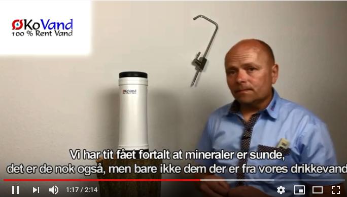 Vandfilterkande forklaring på omvendt osmose